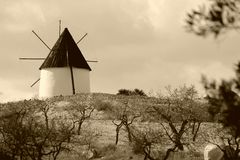 Windmill in Spain Stock Photography