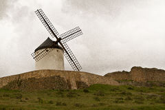 Windmill in Spain. Windmill Spain Quixote Wind Farina Royalty Free Stock Image