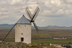 Windmill in Spain. Windmill Spain Quixote Wind Farina Royalty Free Stock Photo