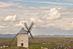 Windmill in Spain. Windmill Spain Quixote Wind Farina Royalty Free Stock Photos