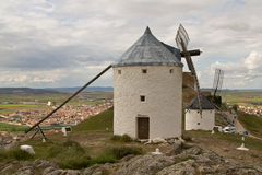 Windmill in Spain. Windmill Spain Quixote Wind Farina Royalty Free Stock Images