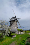 Windmill in spring. Windmill, is the so-called Dutch mill, built in the 1852. Location:  in Latvia - Araishi Royalty Free Stock Photos