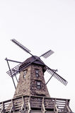 Windmill standing in isolated background Stock Photo