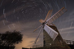 Windmill Star Trail Royalty Free Stock Image