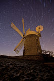 Windmill stary night Stock Image