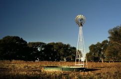 Windmill & Stock Tank 6. Windmill and stock tank on a ranch in Texas Royalty Free Stock Photos