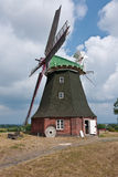 Windmill from Stove, Baltic Sea, Germany Stock Images