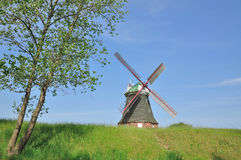 Windmill of Stove,Mecklenburg Coast,Germany Stock Photos