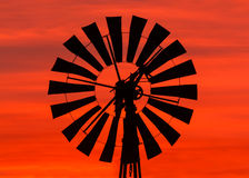 Windmill Sunrise Stock Images