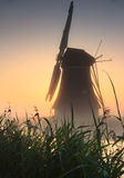 Windmill sunrise Royalty Free Stock Photos