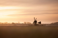 Windmill in sunset Royalty Free Stock Photography