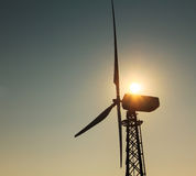 Windmill on sunset Royalty Free Stock Photography