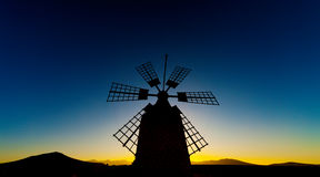 Windmill at sunset Royalty Free Stock Photography