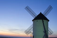 Windmill Sunset Royalty Free Stock Photo