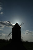 Windmill during the sunset. Windmill in Lednogora, Poland, 1859 Stock Photos
