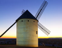 Windmill in sunset Stock Photography
