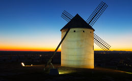 Windmill in sunset Royalty Free Stock Photos