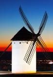 Windmill  in sunset Stock Photo