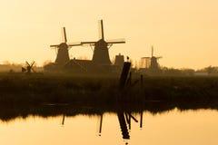 Windmill sunset Royalty Free Stock Photography