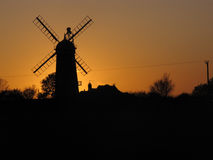 Windmill at sunset, Stock Photo