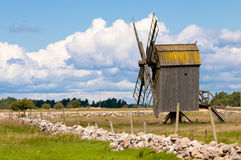 Windmill, Sweden Stock Photo
