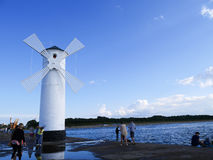 Windmill swinoujscie Royalty Free Stock Images