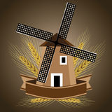 Windmill symbol for wheat products Royalty Free Stock Photo