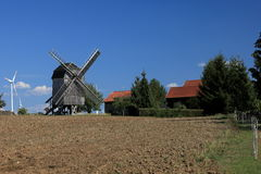 Windmill at Tüngeda in Thuringia Stock Photography