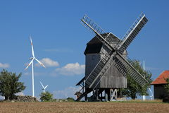 Windmill at Tüngeda in Thuringia Stock Image