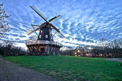 Windmill. Taken in sunset time in Malmo Stock Photography