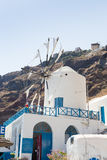 Windmill in Therasia, Santorini Stock Photography