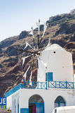 Windmill in Therasia, Santorini Stock Photos