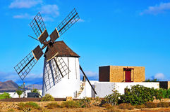 Windmill in Tiscamanita, Fuerteventura, Canary Islands, Spain Stock Image