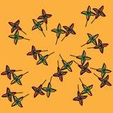 Windmill toy, child pinwheel background Stock Image