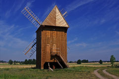 Windmill. Traditional windmill in central Poland Stock Photos