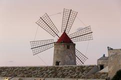 Windmill at Trapani Royalty Free Stock Photos