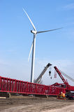 Windmill Turbine Construction Site Wind Energy Royalty Free Stock Photo