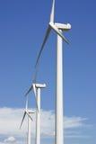 A windmill turbines. In a sky blue Stock Photo