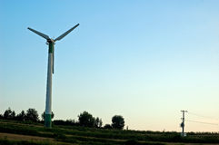 Windmill turning Stock Photo