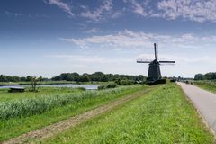 Windmill. Typical Dutch windmill Royalty Free Stock Photography