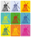 Windmill-Ukrainian_pop-art Royalty-vrije Stock Afbeelding