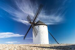 Windmill Under Blue Sky Royalty Free Stock Images