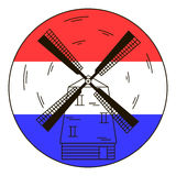Windmill, vector icon Royalty Free Stock Image