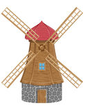 Windmill vector illustration Stock Photos