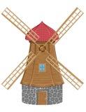 Windmill vector illustration Stock Photos