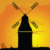 Windmill vector illustration Stock Images
