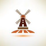 Windmill vector symbol Royalty Free Stock Image