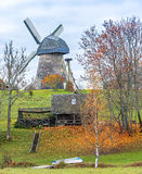 Windmill in Vidzeme hills, Latvia, Europe Royalty Free Stock Photo