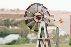 Windmill with view Stock Photography