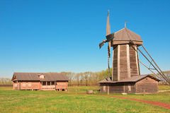 Windmill in the village of Tarkhany Stock Photography